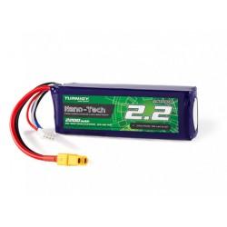 Turnigy nano-tech 2200mAh 11,1V 3S 25C-50C LiPo akumuliatorių baterija