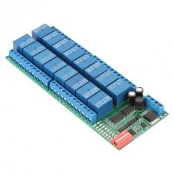 RS485 16 kanalų 12V DC relių Modbus RTU modulis