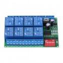 RS485 8 kanalų 12V DC relių Modbus RTU modulis