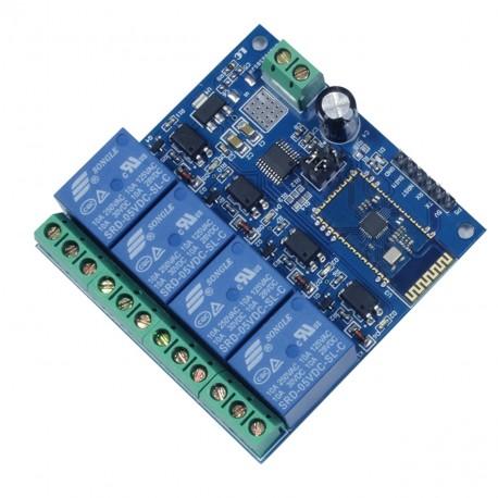 4 kanalų Bluetooth relių modulis 12V