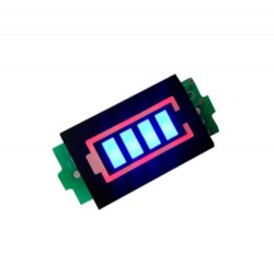 DC voltmetras - indikatorius 1S LiPo akumuliatorių baterijoms