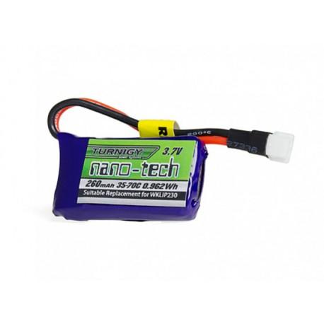 Turnigy nano-tech 260mAh 1S 3,7V 35C-70C LiPo akumuliatorių baterija