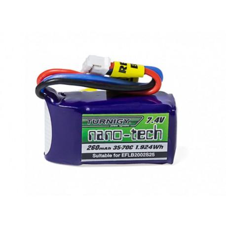 Turnigy nano-tech 260mAh 2S 7,4V 35C-70C LiPo akumuliatorių baterija