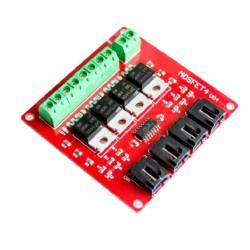 4x IRF540N tranzistorių modulis
