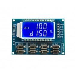 PWM signalo generatorius XY-LPWM3 (su LCD ir UART)
