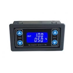 PWM signalo generatorius 3,3-30V 1Hz-150kHz su LCD ir korpusu