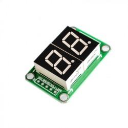 2 skaitmenų indikatoriaus modulis su 74HC595