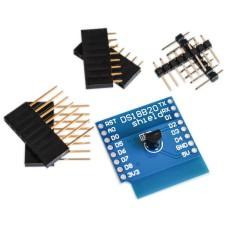 WeMos D1 mini DS18B20 temperatūros jutiklio plokštė