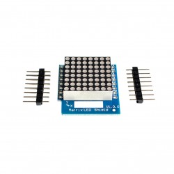 WeMos D1 mini 8x8 LED matricos plokštė