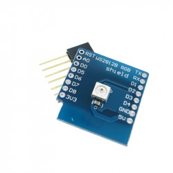 WeMos D1 mini WS2812B RGB LED plokštė