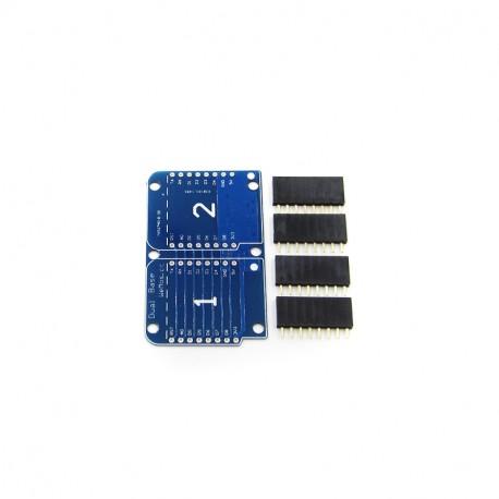 WeMos D1 mini 2 modulių praplėtimo plokštė