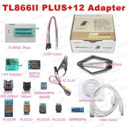Programatorius TL866II Plus su 12 adapterių (XGECU MiniPro)