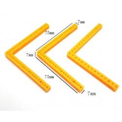 Tvirtinimo elementas - kampinis 75 x 75 x 7 x 7 mm