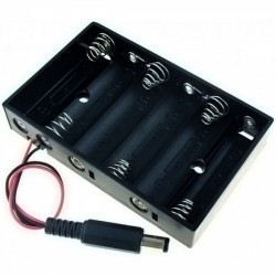 6x AA baterijų laikiklis
