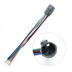 5 kontaktų lizdas 16mm jungikliams su LED