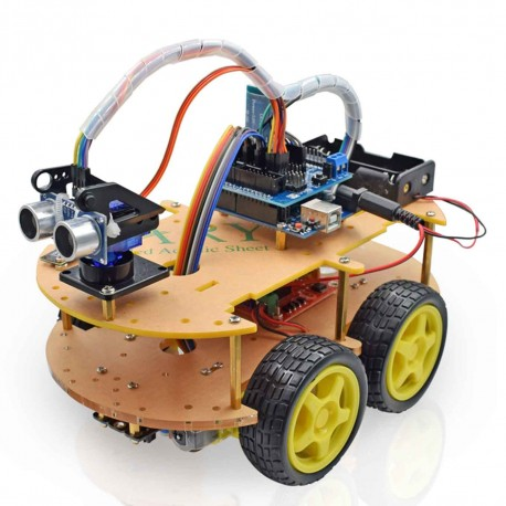 UNO R3 Bluetooth Arduino 4WD Smart Car rinkinys