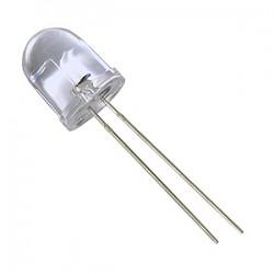 Šv. diodas 10mm skaidrus/balta šviesa