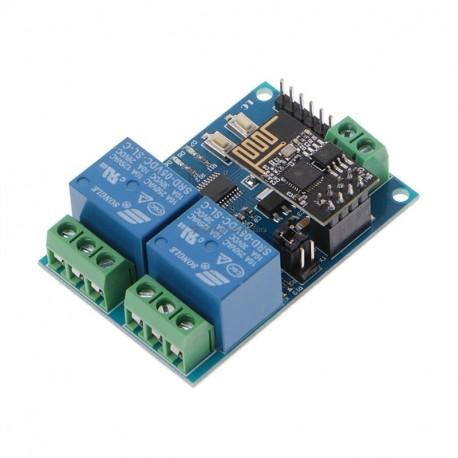 2 relių modulis su ESP8266 (WiFi)