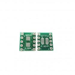 SOT23 SOP10 MSOP10 SMD į DIP10 adapteris