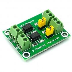 PC817 2 kanalų optrono modulis
