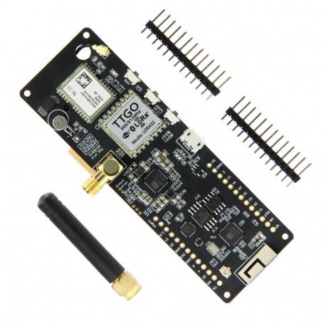 TTGO T-Beam V1.0 modulis (ESP32, GPS NEO-6M, LORA 32 (433MHz), 18650)