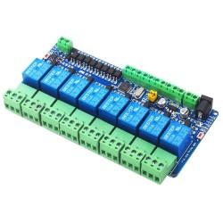 RS485 8 kanalų 12V DC relių Modbus RTU modulis su STM8S103