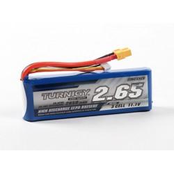 Turnigy 2650mAh 11,1V 3S 20C-40C LiPo akumuliatorių baterija