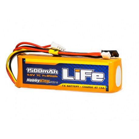 HobbyKing LiFe 1500mAh 9,9V 3S LiFePo4 akumuliatorių baterija