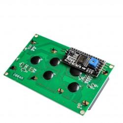 4x20 simbolių LCD modulis su geltonu pašvietimu ir I2C moduliu