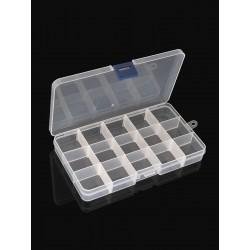 15 skyrių PP dėžutė rinkiniams su išimamomis pertvarėlėmis 174x100x22 mm