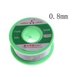 0,8mm lydmetalis 100g Sn63/Pb37
