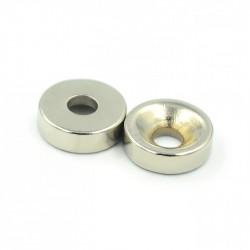 Neodimio magnetas d12 x 4 mm su skyle
