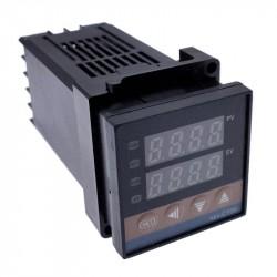REX-C100 temperatūros valdiklis 0-400V K tipo termo poroms su SSR relės valdymo išėjimu (PID)