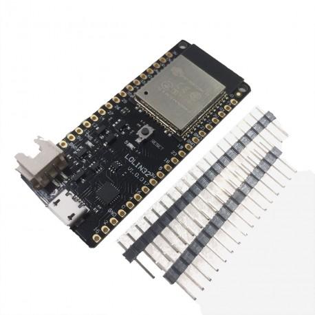 Wemos Lolin32 (ESP-WROOM-32 ir ličio baterijų valdiklis)
