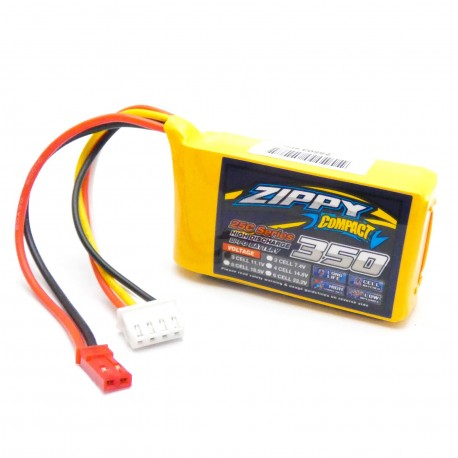 Zippy Compact 350mAh 11,1 3S 25C-35C LiPo akumuliatorių baterija