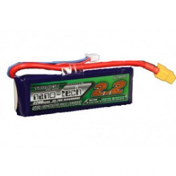 Turnigy nano-tech 2200mAh 7,4V 2S 35C-50C LiPo akumuliatorių baterija