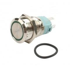 Metalinis fiksuojantis NO+NC jungiklis su LED pašvietimu (raudonas)