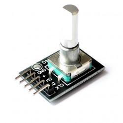 Rotacinio enkoderio su mygtuku modulis