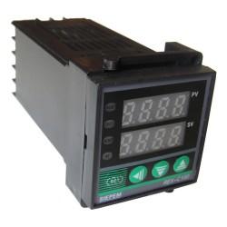 REX-C100 temperatūros valdiklis REX-C100FK02-V*AN (0-400C K tc ir Pt100 įėjimai su SSR relės PID valdymo ir aliarmo išėjimais)