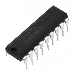 ULN2803 mikroschema (8 x 500mA darlington masyvas)
