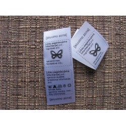 Satin foldable labels