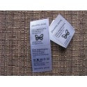 Satin foldable labels 20x25mm (100 pcs.)