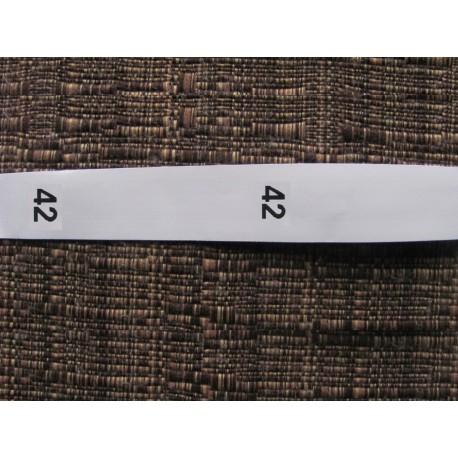Size labels 15x40 mm