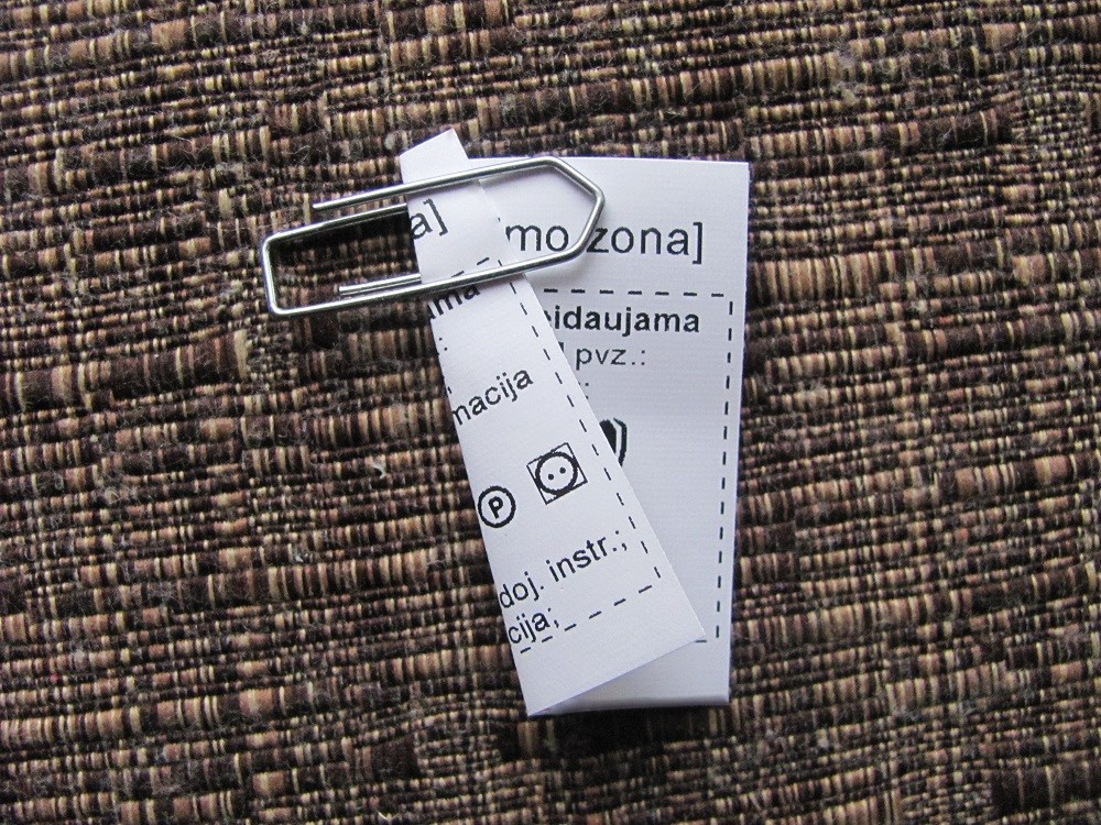 Double sided textile labels