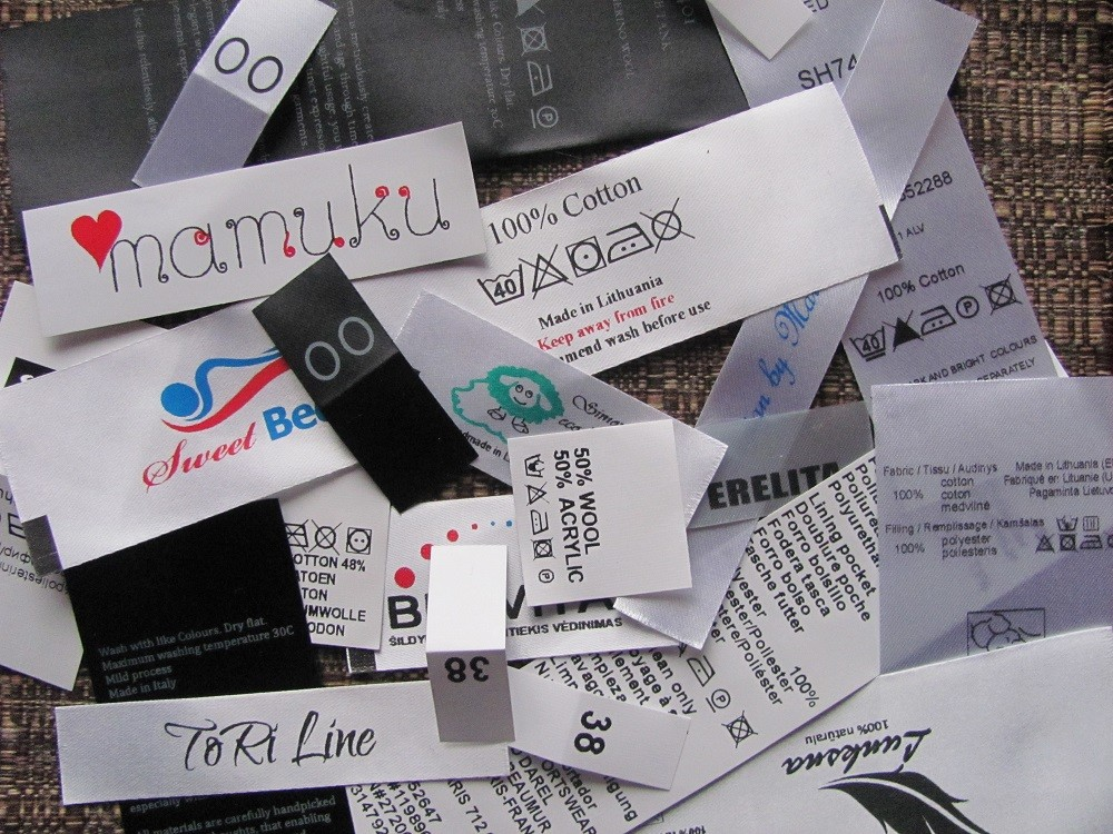 Textile labels with custom information