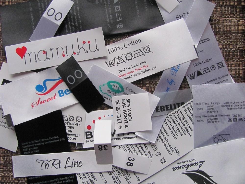 Tekstilinės etiketės su Jūsų informacija