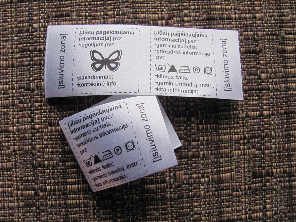 Foldable custom labels